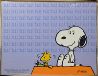 Snoopy and Woodstock Blank Note Cards - Hi!