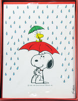 Snoopy and Woodstock In The Rain Blank Note Cards