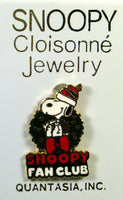 Snoopy Santa Fan Club Cloisonne Pin