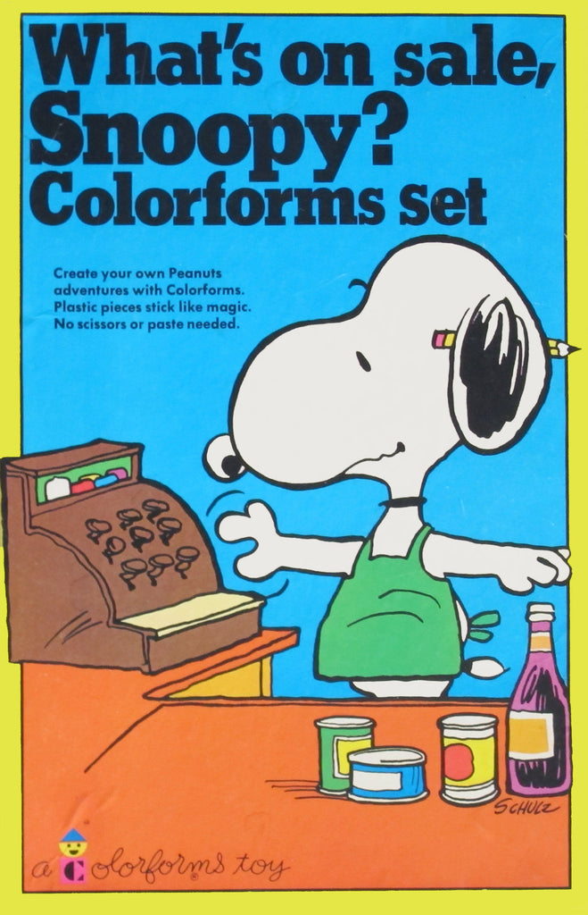 What's On Sale, Snoopy? Colorforms Set