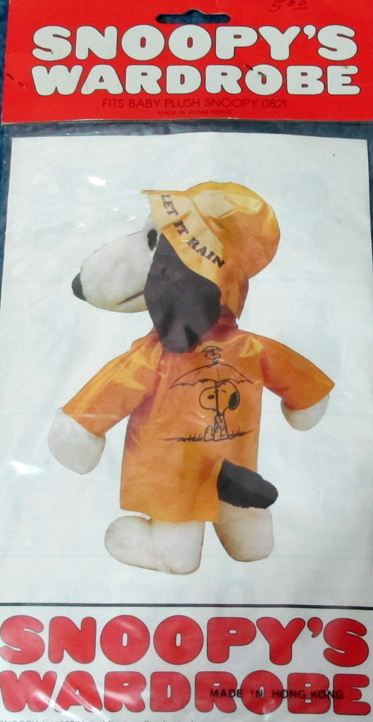 "Snoopy 11"" Plush Doll Outfit - Raincoat and Hat"