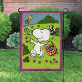 Peanuts Double-Sided Flag - Snoopy's Easter Eggs