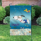 Peanuts Double-Sided Flag - Snoopy Scuba Diving