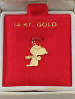 Flying Ace Vintage 14 Karat Gold Charm