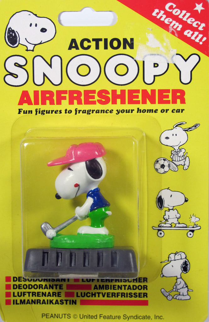 Snoopy 3-D Air Freshener With Adjustable Fragrance Controller - Golfer