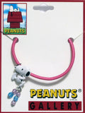Snoopy Pony Tail Holder Hair Band With Metal Pendant and Beads