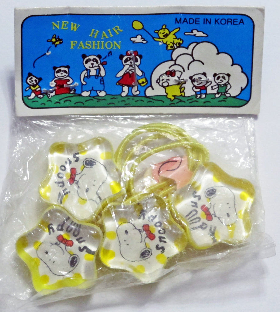 Snoopy Acrylic Pony Tail Holder Hair Band Set