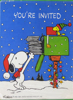 Snoopy Holiday Party Invitations