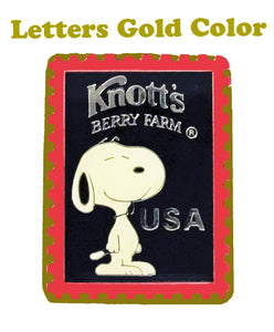 Knott's Berry Farm Snoopy Metal and Enamel Magnet