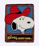 KNOTT'S BERRY FARM Snoopy Cowboy Metal and Enamel Magnet