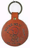 SNOOPY FOOTBALL PLAYER Leather Key Ring