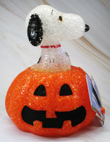 Snoopy Lighted Halloween Pumpkin Decor