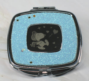 Flying Ace Dual-Mirror Metal Compact (Shiny Silver Finish) - Near Mint
