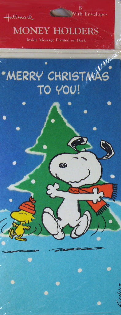 Snoopy Vintage Money Holder Christmas Cards