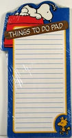 Peanuts Things To Do Magnetic Note Pad -Snoopy