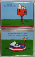 Snoopy  Note Cards Set - Waiting To Hear From You/Sorry I Haven't Written