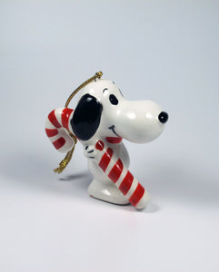 1975 Snoopy Candy Cane Christmas Ornament