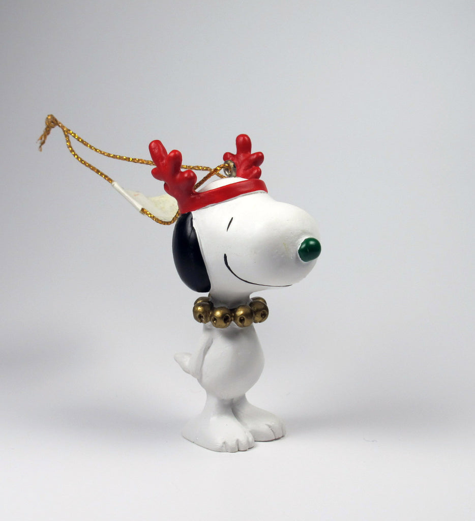 1992 Snoopy Reindeer Christmas Ornament
