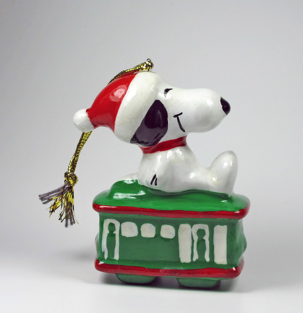 1980's Cable Car Series Christmas Ornament - Snoopy