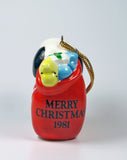 1981 Snoopy's Sack Of Toys Christmas Ornament1