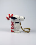 1981 Snoopy NOEL Candy Cane Christmas Ornament