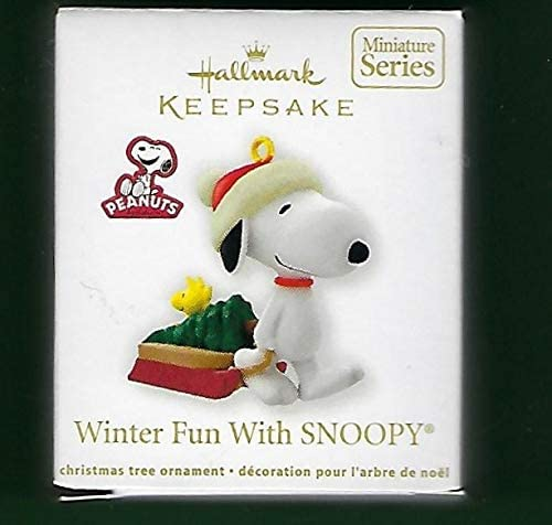 2012 WINTER FUN WITH SNOOPY #15 Miniature Christmas Ornament