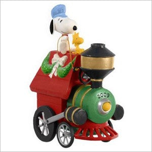 2009 Snoopy Train Christmas Ornament - All Aboard!