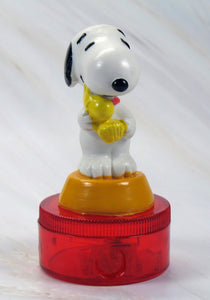 Knott's Snoopy Hugs Woodstock PVC Pencil Sharpener