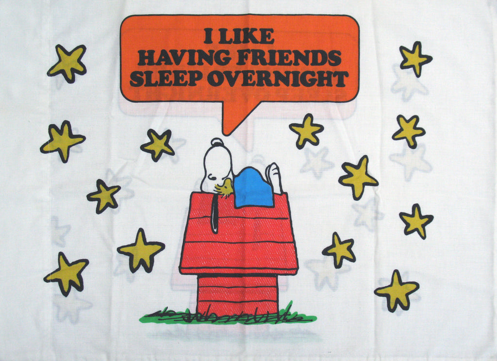 Vintage Peanuts Gang Pillow Case - Sleepover
