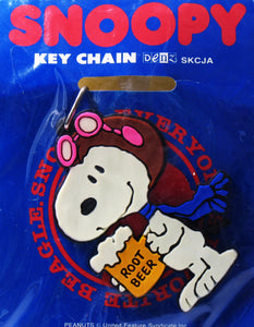 Flying Ace Rootbeer PVC Key Ring - RARE!