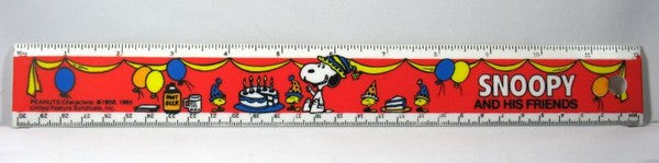 "Snoopy And His Friends 12"" Ruler"