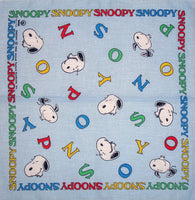 Snoopy Imported Handkerchief / Scarf / Bandanna - Snoopy Name