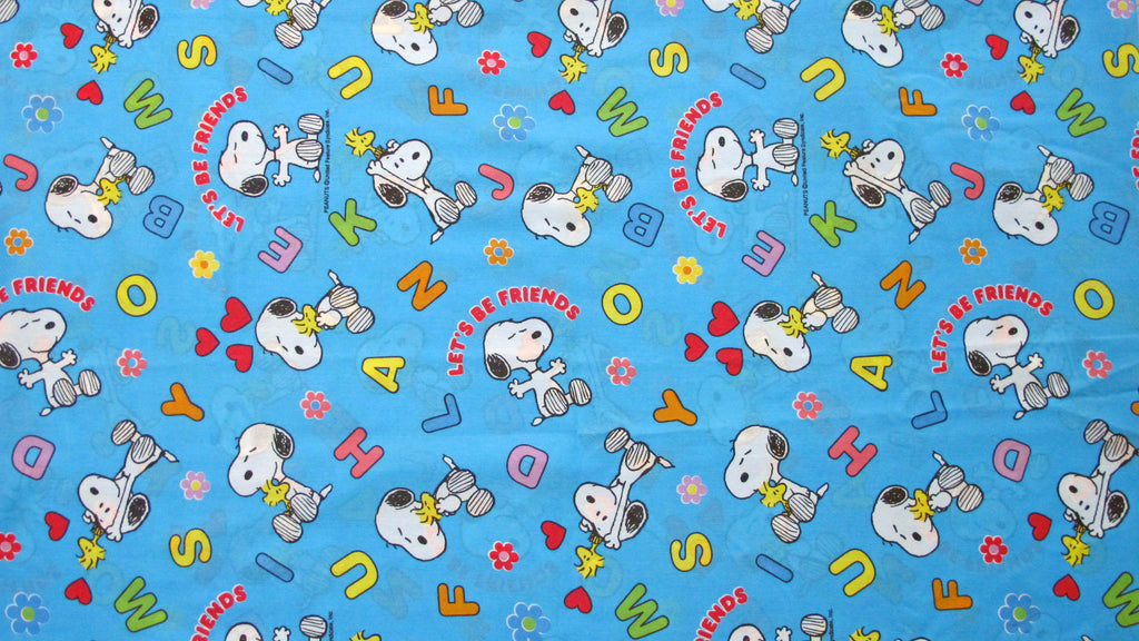 Vintage Peanuts Gang Fitted Sheet - Alphabet