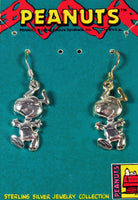 Happy Snoopy Sterling Silver Earrings - Mixed Set (Sterling Silver and 2-Tone Sterling Silver With Gold Plating)