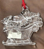 Snoopy Sleigh Waterford Crystal Christmas Ornament