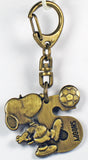 Snoopy Soccer Metal Key Chain