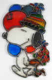 Snoopy and Woodstock Stained-Glass Style Window Decor (Suncatcher)