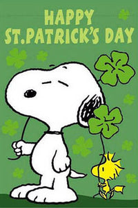 Peanuts Double-Sided Flag - Snoopy St. Patrick's Day