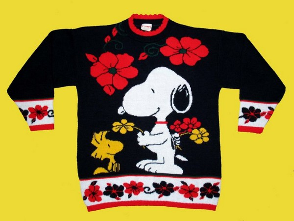 Snoopy Floral Sweater