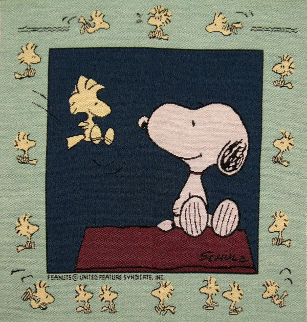 Snoopy Tapestry Wall Hanging or Pillow Cover Panel