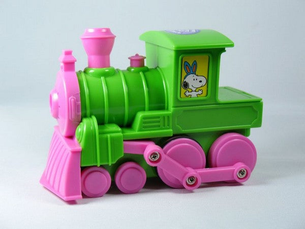 Snoopy Musical Easter Train - Green and Pink