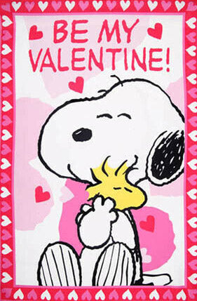 Peanuts Double-Sided Flag - Snoopy Valentine's Day