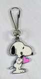 Snoopy's Pink Heart Silver Plated Zipper Pull