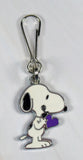 Snoopy's Purple Heart Silver Plated Zipper Pull