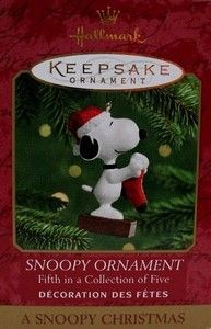 2000 SERIES #5 CHRISTMAS ORNAMENT - SNOOPY
