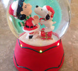 Snoopy Kissing Lucy Musical and Lighted Snow Globe