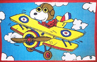 Air Snoopy Flying Ace Rug / Door Mat