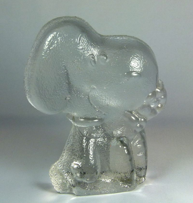 Snoopy Glass Paperweight