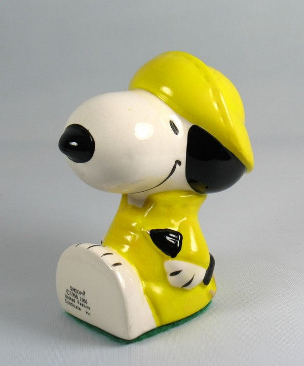 Snoopy in Raincoat Paperweight
