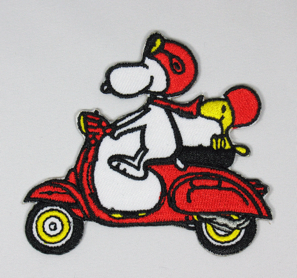 SNOOPY AND WOODSTOCK ON MOPED PATCH - RARE!